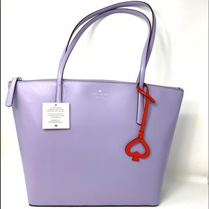 Kate♠️Spade Large Women's Tote Zina Leather Violet